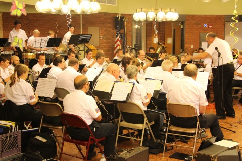 Cressona Band performs, Sheldon Shafer, Weatherwood, Weatherly, 7-27-2015 (103)