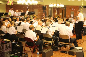 Cressona Band performs, Sheldon Shafer, Weatherwood, Weatherly, 7-27-2015 (104)