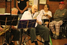 Cressona Band performs, Sheldon Shafer, Weatherwood, Weatherly, 7-27-2015 (113)