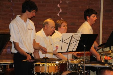Cressona Band performs, Sheldon Shafer, Weatherwood, Weatherly, 7-27-2015 (114)