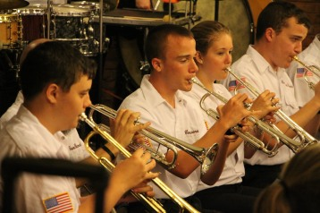 Cressona Band performs, Sheldon Shafer, Weatherwood, Weatherly, 7-27-2015 (115)