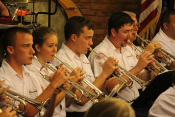 Cressona Band performs, Sheldon Shafer, Weatherwood, Weatherly, 7-27-2015 (116)