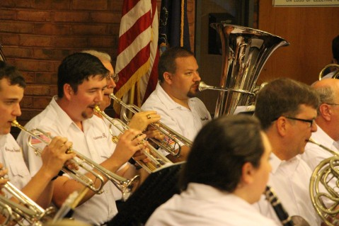 Cressona Band performs, Sheldon Shafer, Weatherwood, Weatherly, 7-27-2015 (117)