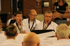 Cressona Band performs, Sheldon Shafer, Weatherwood, Weatherly, 7-27-2015 (120)