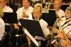 Cressona Band performs, Sheldon Shafer, Weatherwood, Weatherly, 7-27-2015 (13)