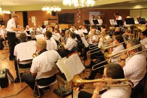 Cressona Band performs, Sheldon Shafer, Weatherwood, Weatherly, 7-27-2015 (137)