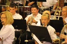 Cressona Band performs, Sheldon Shafer, Weatherwood, Weatherly, 7-27-2015 (14)