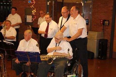 Cressona Band performs, Sheldon Shafer, Weatherwood, Weatherly, 7-27-2015 (145)