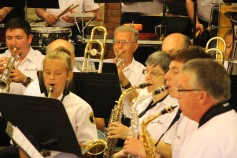 Cressona Band performs, Sheldon Shafer, Weatherwood, Weatherly, 7-27-2015 (15)