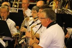 Cressona Band performs, Sheldon Shafer, Weatherwood, Weatherly, 7-27-2015 (16)