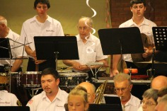 Cressona Band performs, Sheldon Shafer, Weatherwood, Weatherly, 7-27-2015 (19)