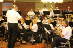 Cressona Band performs, Sheldon Shafer, Weatherwood, Weatherly, 7-27-2015 (2)