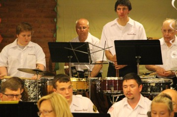 Cressona Band performs, Sheldon Shafer, Weatherwood, Weatherly, 7-27-2015 (21)