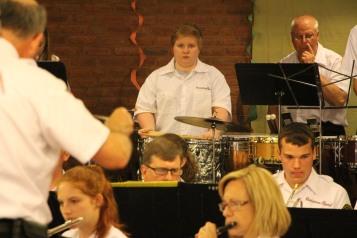 Cressona Band performs, Sheldon Shafer, Weatherwood, Weatherly, 7-27-2015 (22)
