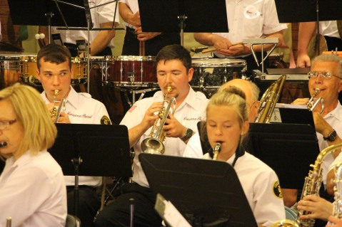 Cressona Band performs, Sheldon Shafer, Weatherwood, Weatherly, 7-27-2015 (23)