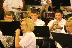 Cressona Band performs, Sheldon Shafer, Weatherwood, Weatherly, 7-27-2015 (24)
