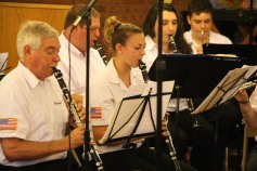 Cressona Band performs, Sheldon Shafer, Weatherwood, Weatherly, 7-27-2015 (28)