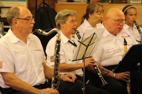 Cressona Band performs, Sheldon Shafer, Weatherwood, Weatherly, 7-27-2015 (31)