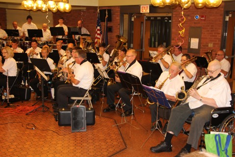 Cressona Band performs, Sheldon Shafer, Weatherwood, Weatherly, 7-27-2015 (34)