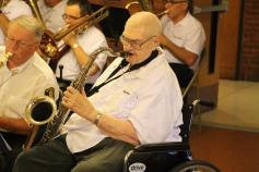 Cressona Band performs, Sheldon Shafer, Weatherwood, Weatherly, 7-27-2015 (4)