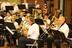Cressona Band performs, Sheldon Shafer, Weatherwood, Weatherly, 7-27-2015 (40)
