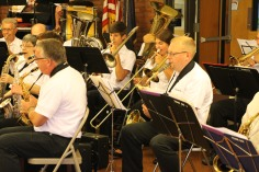 Cressona Band performs, Sheldon Shafer, Weatherwood, Weatherly, 7-27-2015 (41)