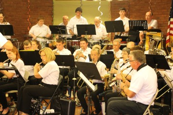 Cressona Band performs, Sheldon Shafer, Weatherwood, Weatherly, 7-27-2015 (43)