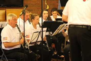 Cressona Band performs, Sheldon Shafer, Weatherwood, Weatherly, 7-27-2015 (44)