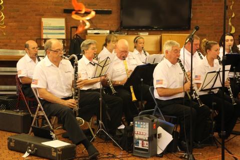 Cressona Band performs, Sheldon Shafer, Weatherwood, Weatherly, 7-27-2015 (45)
