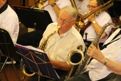 Cressona Band performs, Sheldon Shafer, Weatherwood, Weatherly, 7-27-2015 (5)
