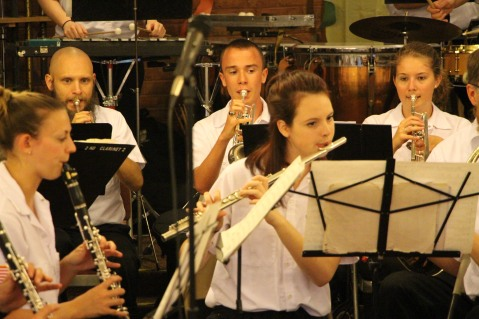 Cressona Band performs, Sheldon Shafer, Weatherwood, Weatherly, 7-27-2015 (58)