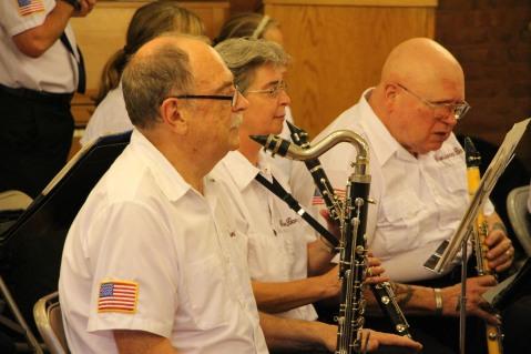 Cressona Band performs, Sheldon Shafer, Weatherwood, Weatherly, 7-27-2015 (66)