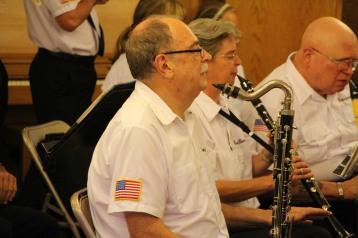 Cressona Band performs, Sheldon Shafer, Weatherwood, Weatherly, 7-27-2015 (67)