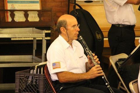 Cressona Band performs, Sheldon Shafer, Weatherwood, Weatherly, 7-27-2015 (69)