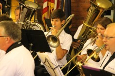 Cressona Band performs, Sheldon Shafer, Weatherwood, Weatherly, 7-27-2015 (7)