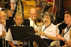 Cressona Band performs, Sheldon Shafer, Weatherwood, Weatherly, 7-27-2015 (74)