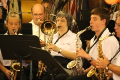 Cressona Band performs, Sheldon Shafer, Weatherwood, Weatherly, 7-27-2015 (75)