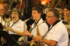 Cressona Band performs, Sheldon Shafer, Weatherwood, Weatherly, 7-27-2015 (76)