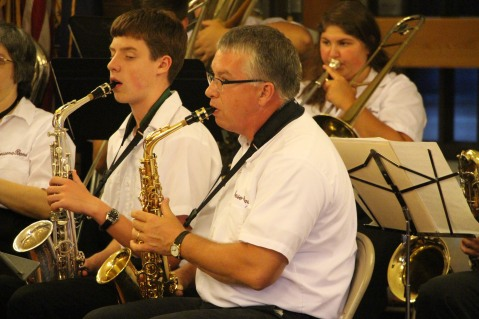 Cressona Band performs, Sheldon Shafer, Weatherwood, Weatherly, 7-27-2015 (77)