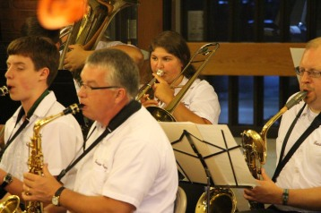 Cressona Band performs, Sheldon Shafer, Weatherwood, Weatherly, 7-27-2015 (78)