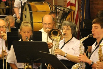 Cressona Band performs, Sheldon Shafer, Weatherwood, Weatherly, 7-27-2015 (79)