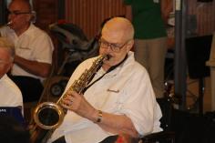 Cressona Band performs, Sheldon Shafer, Weatherwood, Weatherly, 7-27-2015 (87)