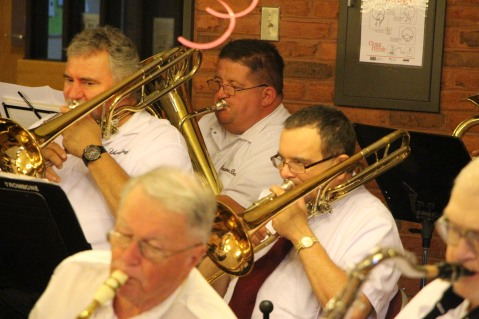 Cressona Band performs, Sheldon Shafer, Weatherwood, Weatherly, 7-27-2015 (9)
