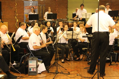Cressona Band performs, Sheldon Shafer, Weatherwood, Weatherly, 7-27-2015 (90)