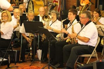 Cressona Band performs, Sheldon Shafer, Weatherwood, Weatherly, 7-27-2015 (91)
