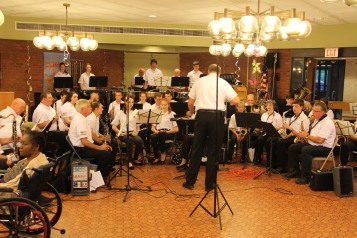 Cressona Band performs, Sheldon Shafer, Weatherwood, Weatherly, 7-27-2015 (92)