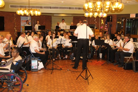 Cressona Band performs, Sheldon Shafer, Weatherwood, Weatherly, 7-27-2015 (93)