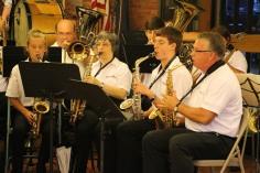 Cressona Band performs, Sheldon Shafer, Weatherwood, Weatherly, 7-27-2015 (94)