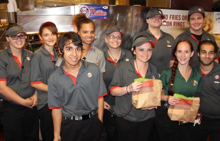 Donating Burgers, Tamaqua Burger Hill, Hometown McDonalds, 8-6-2015 (5)