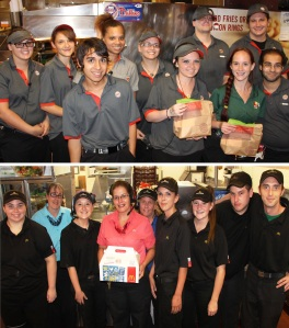 Donating Burgers, Tamaqua Burger Hill, Hometown McDonalds, 8-6-2015, COMBINED